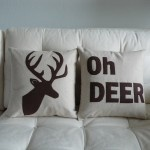 Oh Deer pillows for the hunting room...I know what dad is getting for xmassss!!