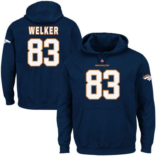 Wes Welker Denver Broncos Eligible Receiver Hoodie - Navy Blue - $32.99