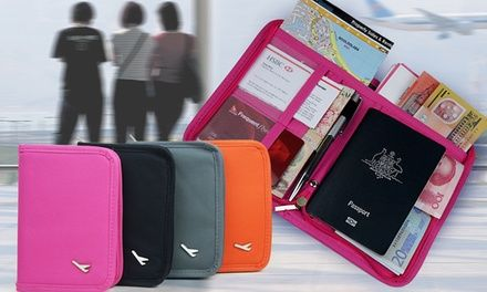 $8 for a Travel Document Organiser in Choice of Colour (Don't Pay $45.17)