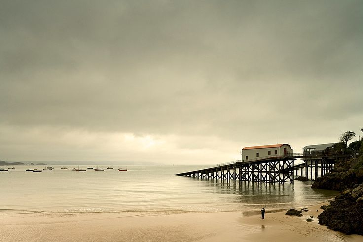 Beach at Tenby, Pembrokeshire, Dyfed, Wales, Great Britain, United Kingdom, UK, Europe