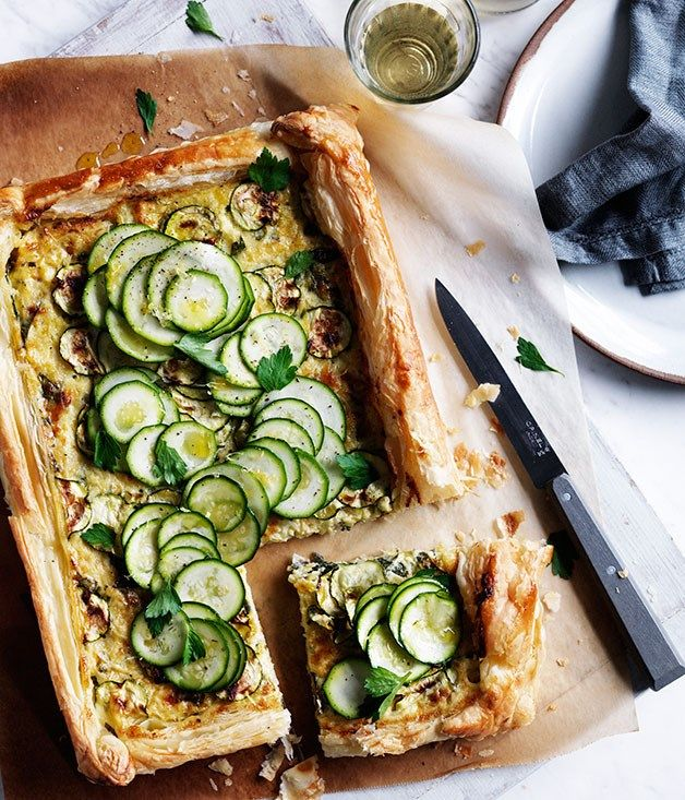 Zucchini and Gruyère galette recipe :: Gourmet Traveller