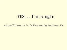 yes i'm single and you have to be amazing to change that - Google zoeken