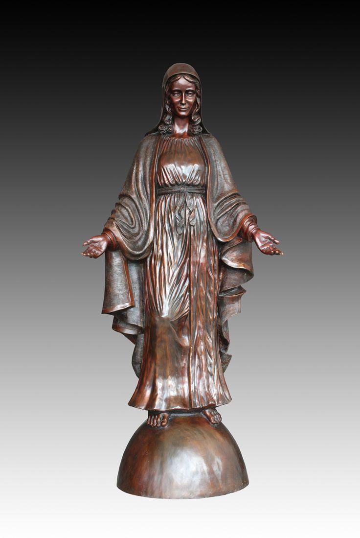 Знаменитый открытый украшения сада Бронзовая Скульптура Девы Марии Статуя Ремесло коллекции Мать бога бизнес-подарки(China (Mainland))