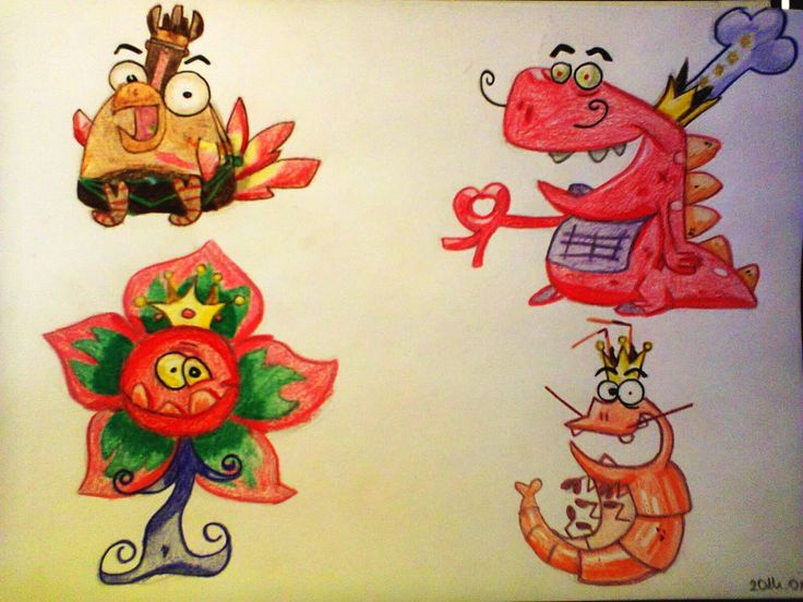 The Baby Boss Crew  This game is full of adorable characters: here comes another cool gang, the baby baddies.  Size: B/5 Technic: colour pencil Game: Rayman Origins