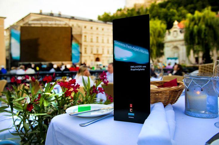 DAs IMLAUER Restaurantzelt am Kapitelplatz in Salzburg bringt Kulinarik auf höchstem Niveau zu den Siemens Fest>Spiel>Nächten im Sommer 2016