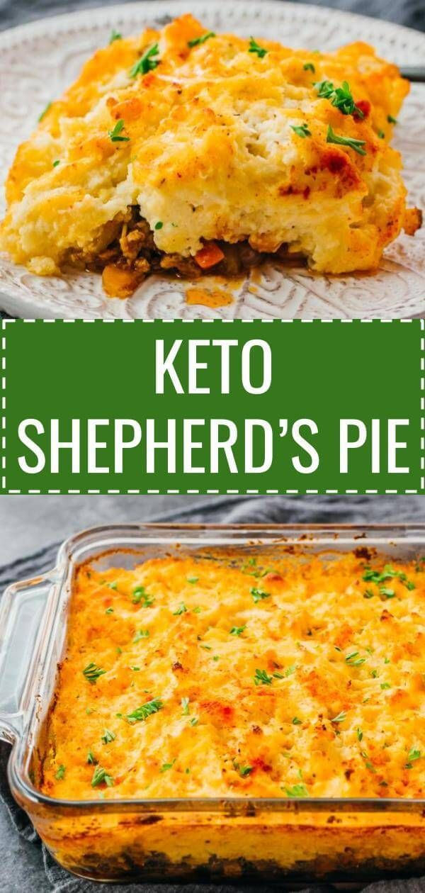 A Healthy Keto Version Of Traditional Shepherd S Pie With Lamb Or Called Cottage Pie If Using Keto Recipes Easy Keto Beef Recipes Low Carb Mashed Cauliflower