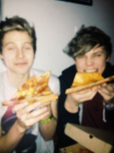 Haha pizza half of our beautiful babes....perfect picture