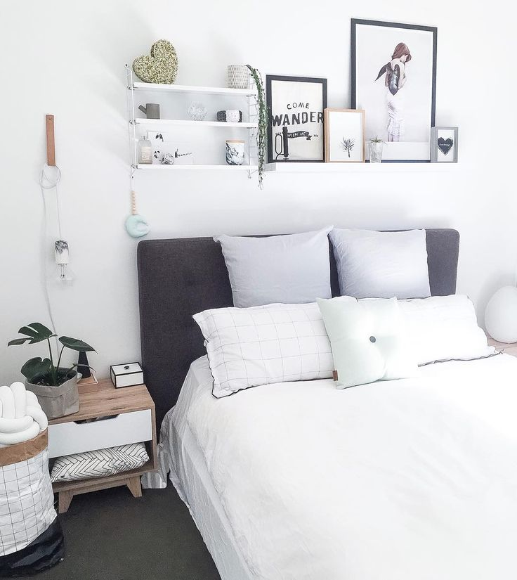 See why shelves above your bed can be so great.