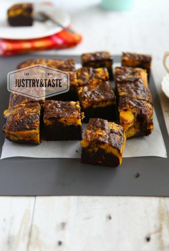 Just Try & Taste: Resep Pumpkin Swirl Brownies
