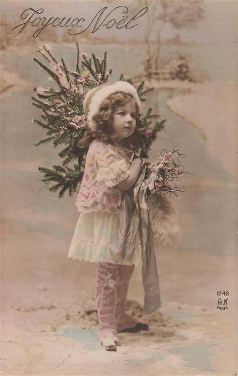 Vintage Christmas  photo idea with Little Miss