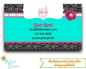 Perfectly Posh Business Card Direct Sales Marketing