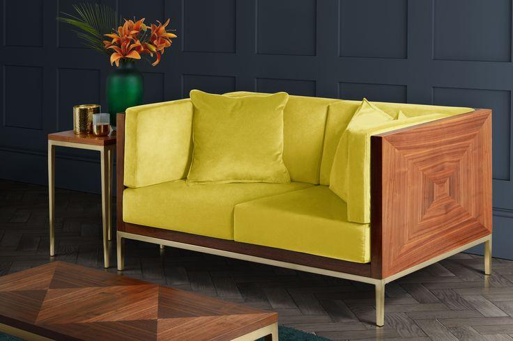 Ravello two seater sofa - Lime