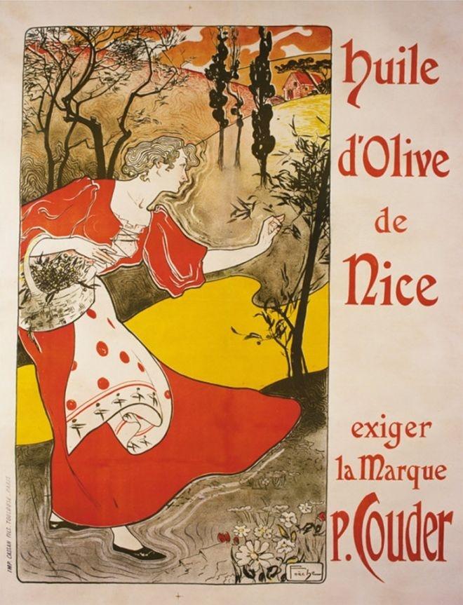 Huile d'Olive vintage ad