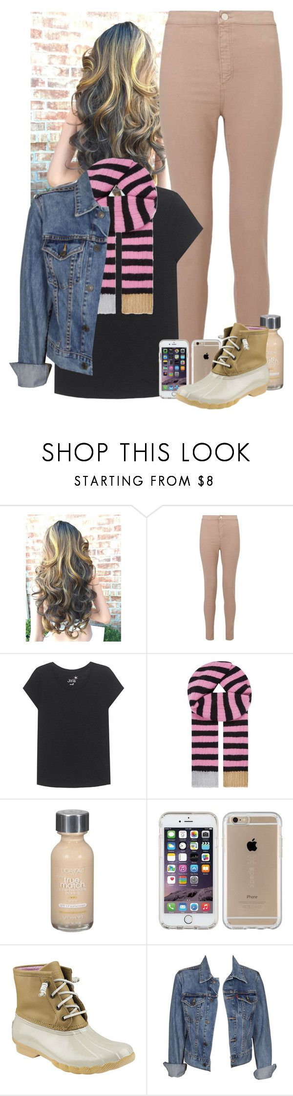"""Missing Connecticut..."" by sydneymellark ❤ liked on Polyvore featuring Miss Selfridge, Juvia, Gucci, L'Oréal Paris, Speck, Sperry, Levi's and winterwear"