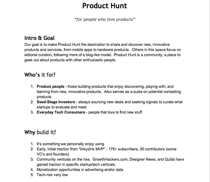 Producthunt Product Requirements Document  Ux