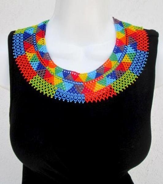 Collar de chaquira típico mexicano - artesanum com