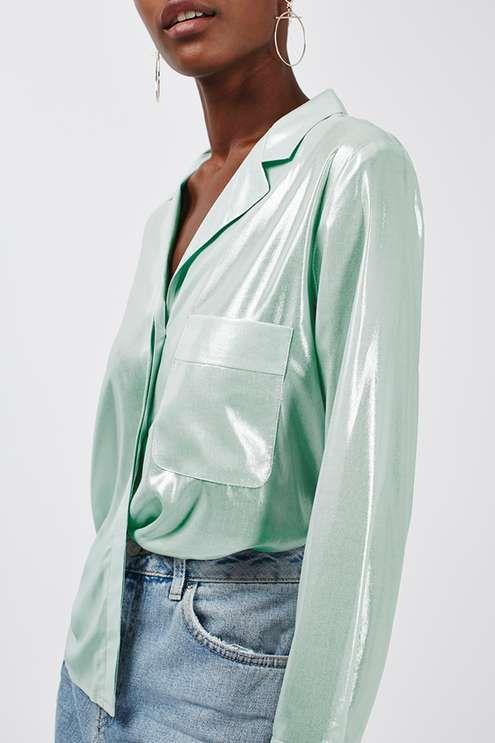 Metallic Pyjama Shirt - New In