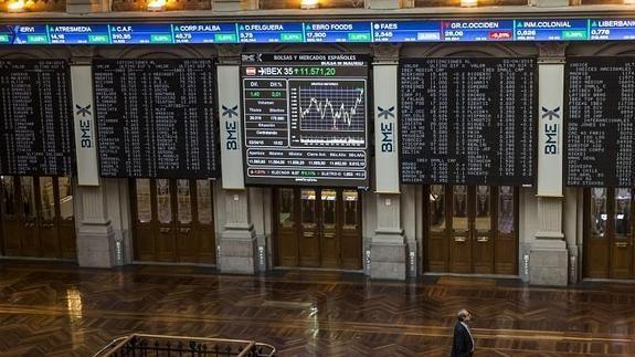 El Ibex marca nuevos máximos tras subir un 0,83% Vista general de la Bolsa de Madrid.