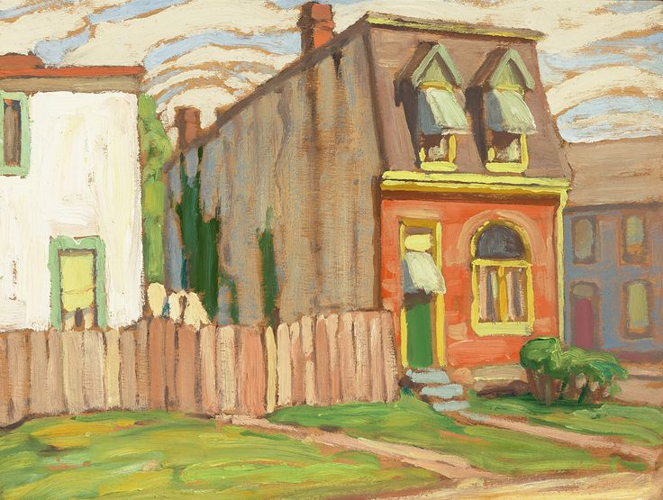 "House, Toronto ~ Lawren Stewart Harris ~ oil on panel ~ 10.5 x 14"" ~ private collection"