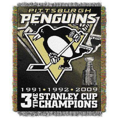 Northwest Co. NHL Penguins Commemorative Throw Blanket