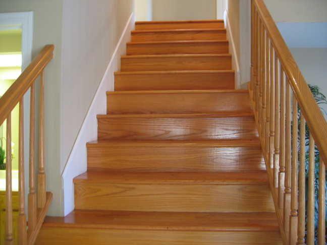 Wood Stairs With White Trim Flooring Trim Amp Hallways