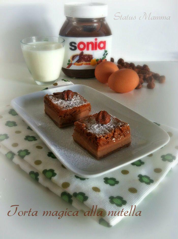 Torta magica alla nutella ricetta dolce foto blog tutorial statusmamma Giallozafferano cucinare cioccolato nocciole ricetta per bambini BlogGz colazione merenda