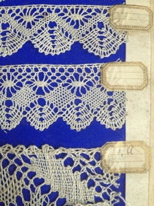 Antique Lace Sample Book-11 panels FleaingFrance Brocante Society
