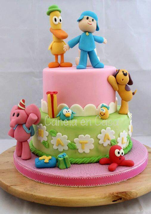 Pocoyo cake!!!