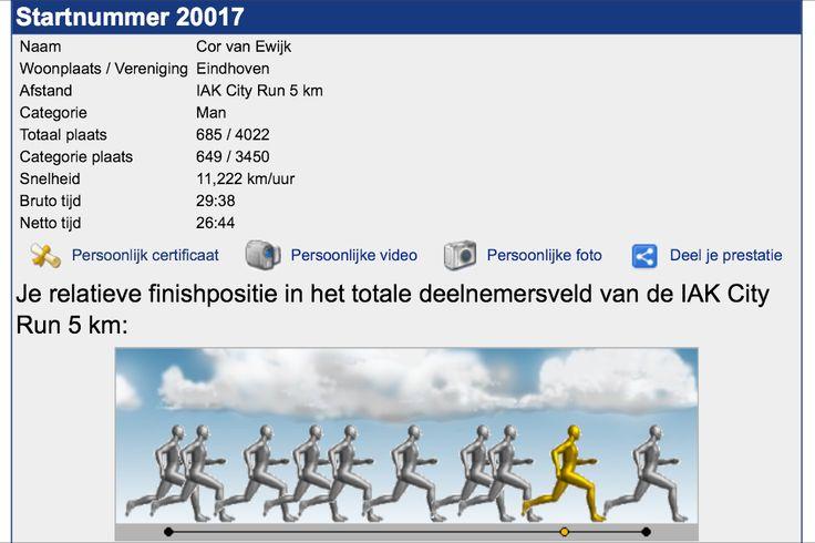 IAK City run (5Km) Eindhoven 2013