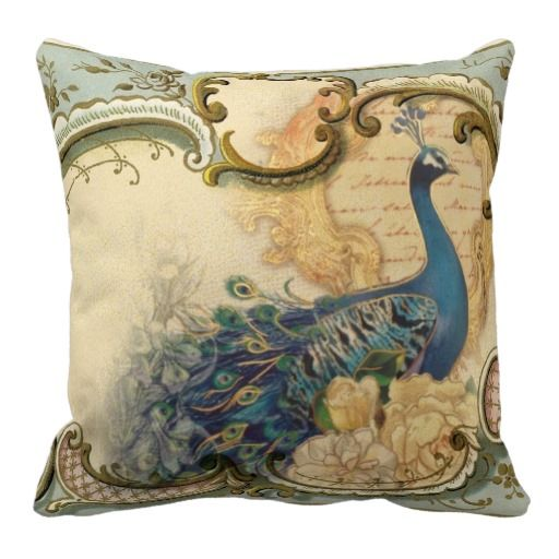 Victorian Throw Pillows : 24 best images about Pillows: Peacocks and Birds on Pinterest Peacocks, Designer cushions and ...