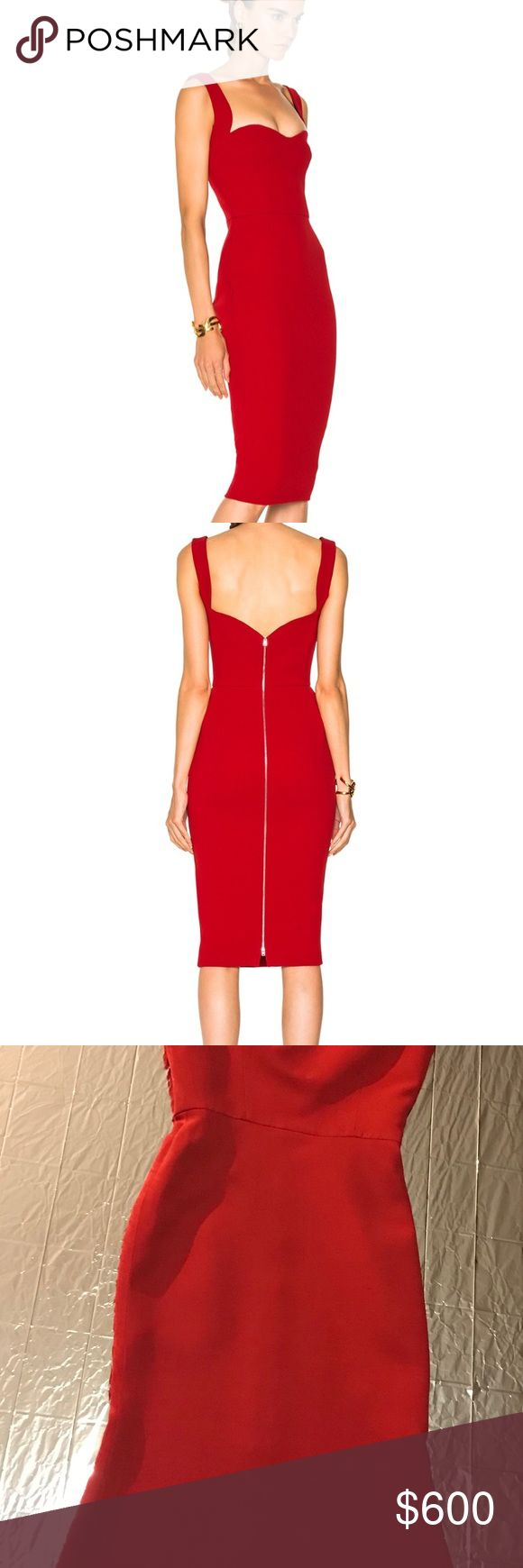 Victoria Beckham Cami dress Cute holiday dress. Perfect for date night   New year, Christmas, Valentine's Day  - I name it you wear it.  Size 8 uk 4 us. Measurements: Bust approx: 90 cm + stretch Waist approx; 65 cm + stretch Hips approx: 89-90 cm + stretch Length front shoulder/neck approx: 113 cm Let me know if you have any questions. Read Less Victoria Beckham Dresses Midi