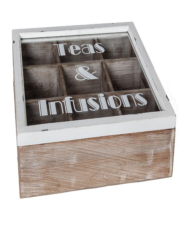 Antique White Tea & Infusions Box