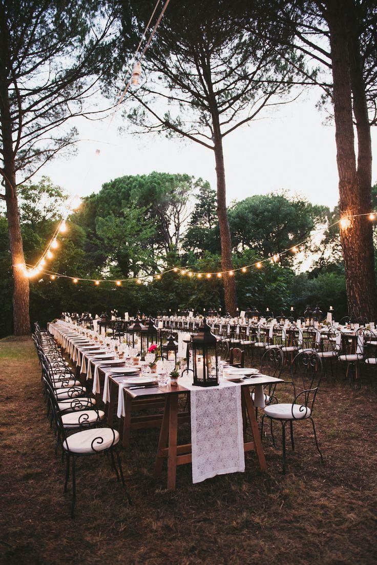 magical outdoor wedding reception