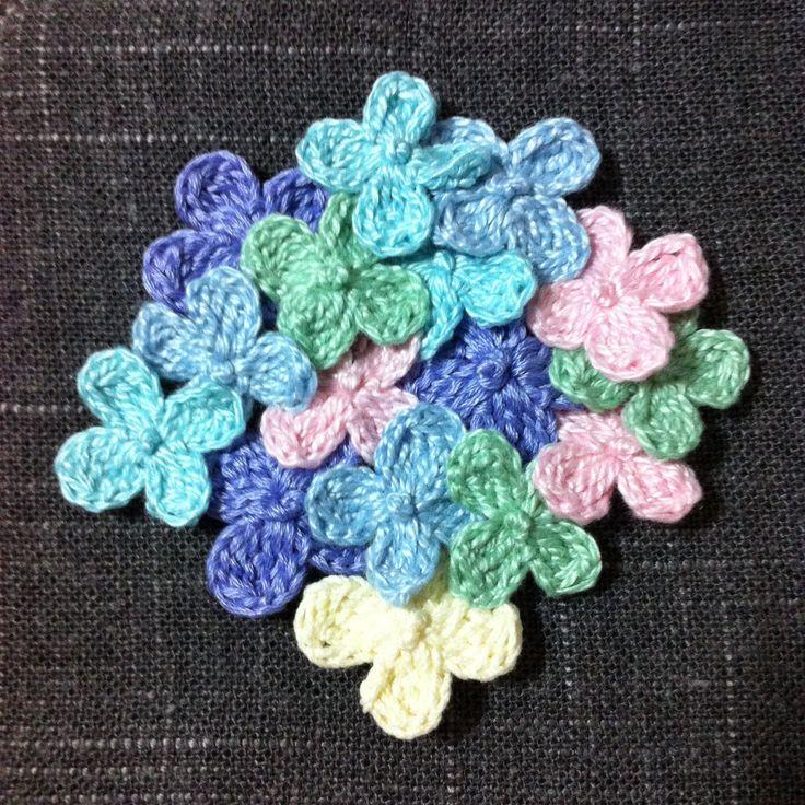 Flowers Crochet Motif.  #crochet #flower #motif #decoration #pastels_#colors #cute #ornament