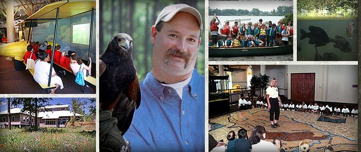 Governor Mike Huckabee Delta Rivers Nature Center Pine Bluff Ar