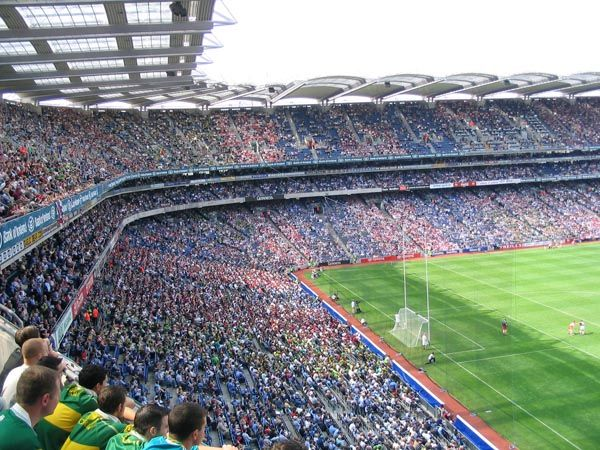 Croke Park...The capacity of the stadium is 82,300 making it Ireland's largest and the sixth largest stadium in Europe. The stadium is home to the Gaelic Athletic Association.