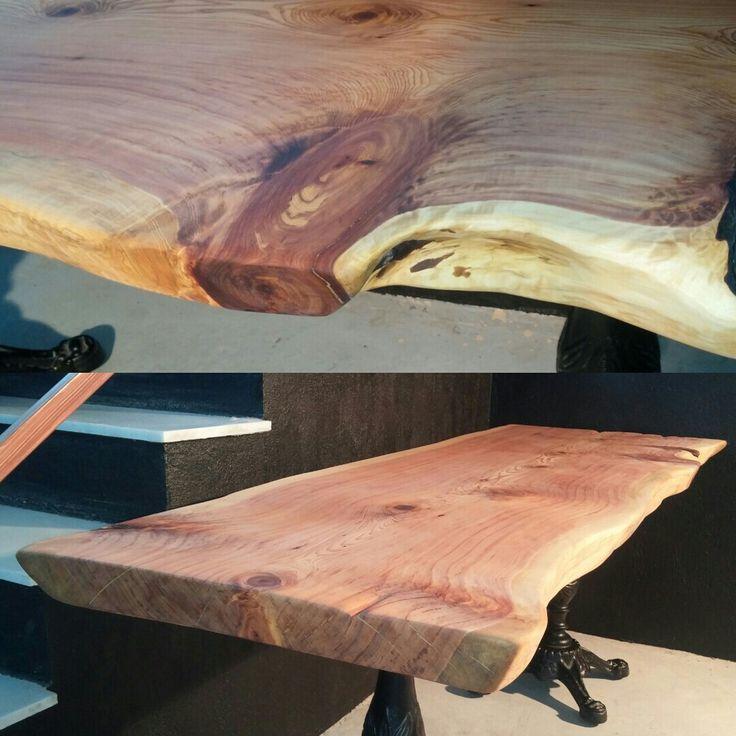 Ardıç masif ahşap masa. 208 cm. Harikulade kokulu. / Juniper wooden well smelt table.