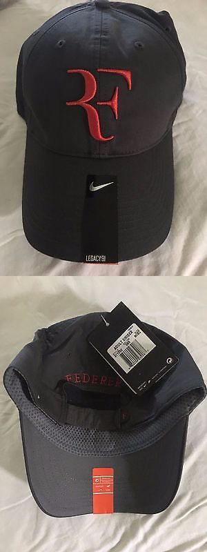 Hats and Headwear 159160: ** Rare Roger Federer Nike Black And Red Cap Hat Rf ** -> BUY IT NOW ONLY: $500 on eBay!