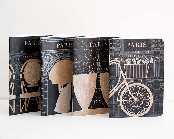 Paris Journal Collection Mini Notebook and Jotter by ObviousState, $18.00