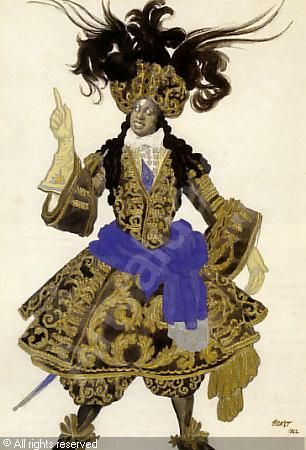 Costume design by Leon Bakst, 1922, for the King's guards in Sleeping Beauty.