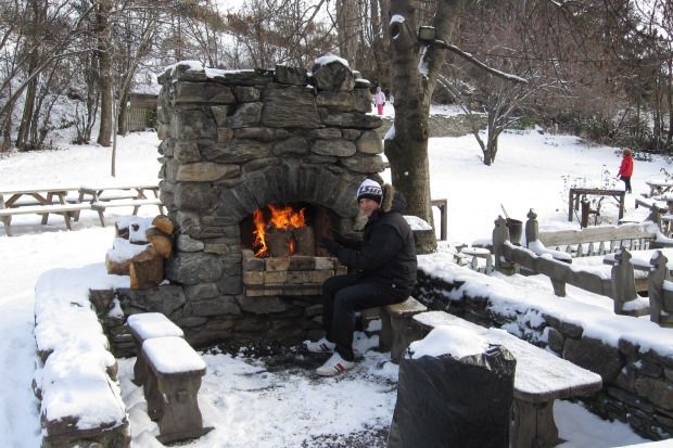 Cardrona Hotel NZ - outdoor fire