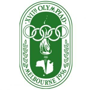 Official logo for the 1958 Olympic games in Melbourne