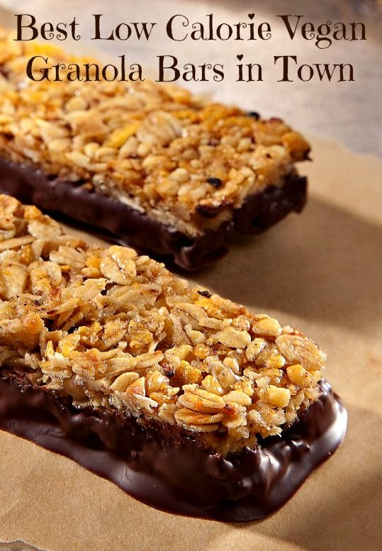 Low Calorie Vegan granola bars