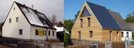 Holzfassaden müssen hinterlüftet werden, damit die Feuchtigkeit abtrocknen kann.