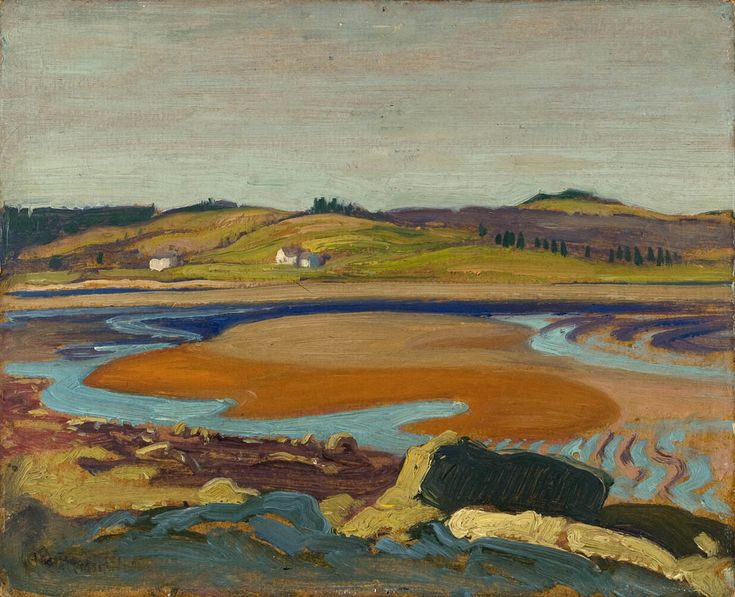 """Low Tide, Petite Riviere, Nova Scotia,"" James Edward Hervey MacDonald, 1922, oil on cardboard, 8.4 x 10.4"", Montreal Museum of Fine Arts."