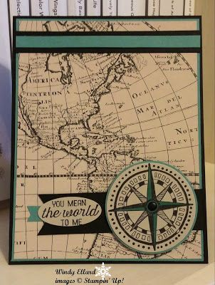 Windy's Wonderful Creations, Stampin' Up!, Going Global, Going Places DSP, #GDP014
