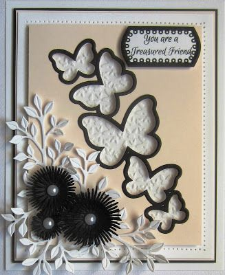 Hi crafters! Another one using the Cascading Butterfly die set  today! You have seen how pretty it looks with Pixie Powders, but I th.... 30/03/2017