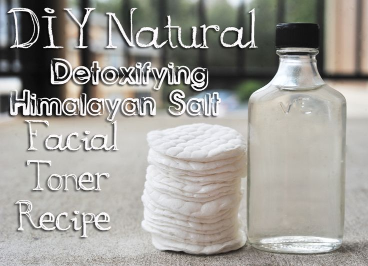 pH Balancing Himalayan Salt & Apple Cider Vinegar Facial Toner (Add a few drops of Lavender, Chamomile, or Rosemary Essential Oils which is beneficial for the skin plus a nice calming scent)