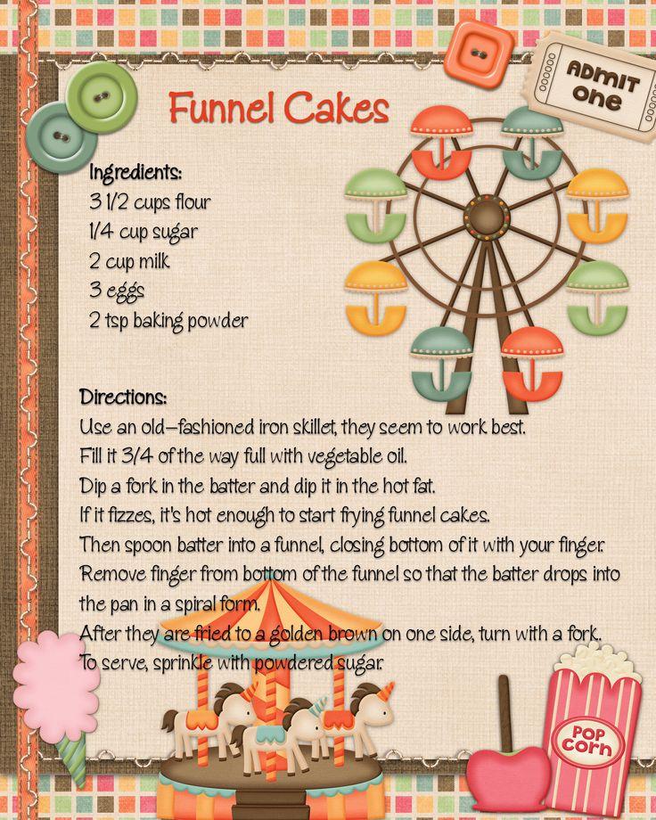 449 best recipe cards ideas images on pinterest recipe books funnel cakes scrapkit festival fun designs forumfinder Choice Image