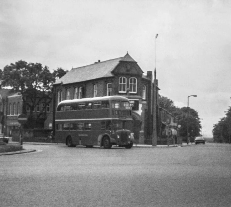An old bus in Walkden at the crossroads.